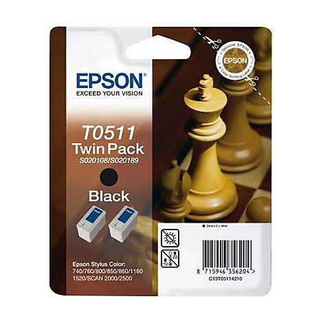 twin pack 2 cartucce inch. nero