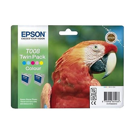 twin pack t008  2 cartucce colori