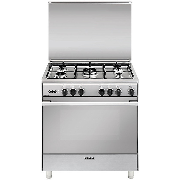 u-865vi glem gas cucina 80x60 5 fuochi a gas forno vent inox