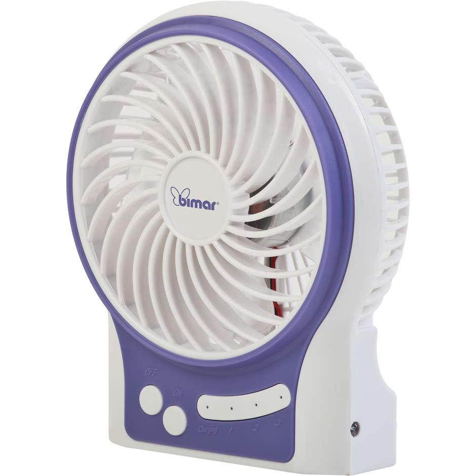 VT16 Bimar mini ventilatore usb 9cm luce blu