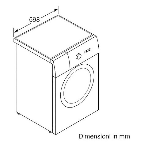 wat-20427it bosch lavatrice classe a+++-30% carica frontale 7 kg 1000 giri