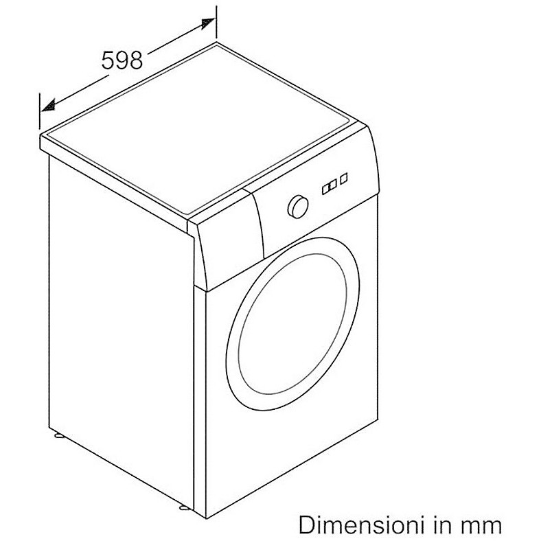 wat-24429it bosch lavatrice carica frontale 9 kg classe a+++ 1200 giri/min