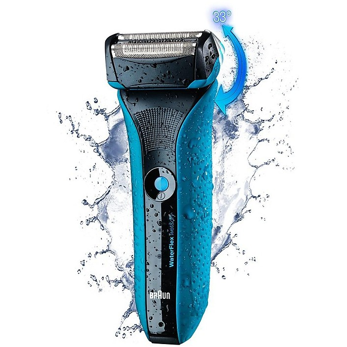 waterflex braun rasoio ricaricabile wet & dry schiuma