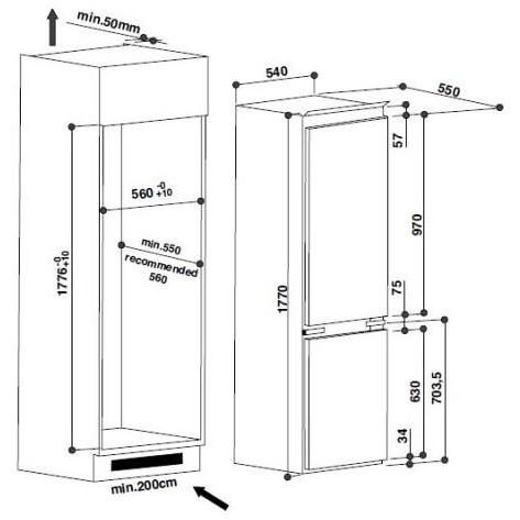 Whirlpool ART 6600/A+ frigorifero combinato da incasso 275 ...