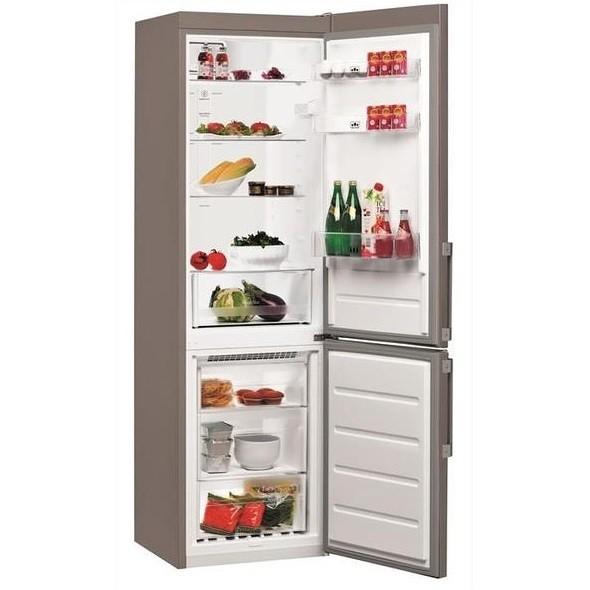 Whirlpool BSNF 8122 OXH frigorifero combinato 319 litri classe A++ Total No Frost colore inox