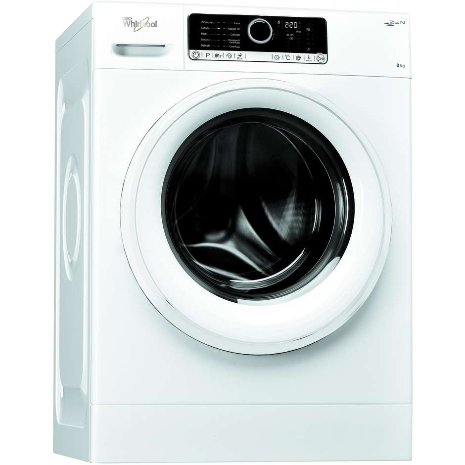 Whirlpool FSCRBG80411 lavatrice carica frontale 8 Kg 1400 giri classe A+++ colore bianco