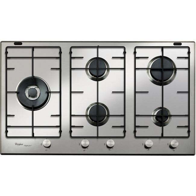 Whirlpool GMA 9521/IXL Piano Cottura A Gas 90 Cm 5 Fuochi Griglie Smaltate