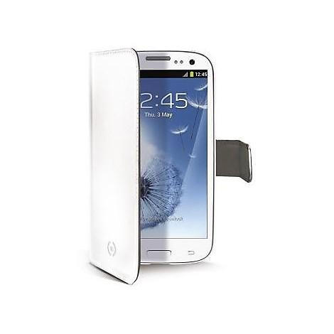white pu wallet case galaxy s3
