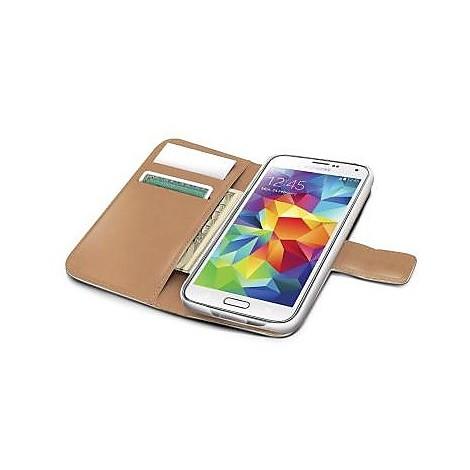 white pu wallet case galaxy s5mini