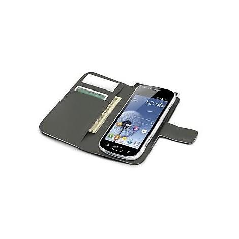 white pu wallet case galaxy trend