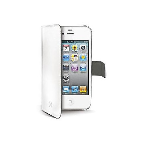 white pu wallet case iphone 4/4s