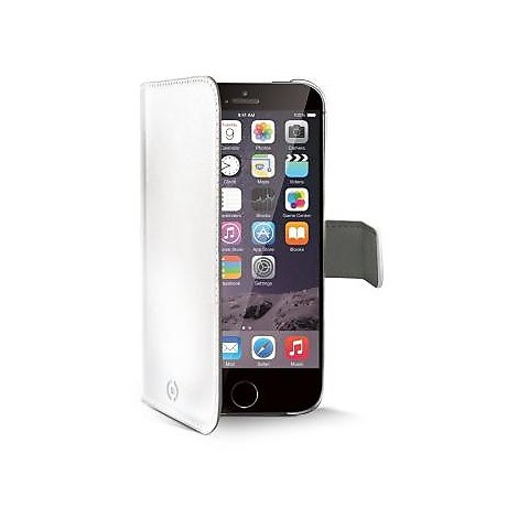 white pu wallet case iphone 6 plus
