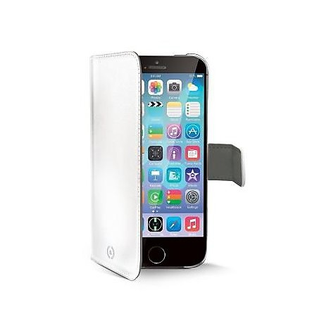 white pu wallet case iphone 6