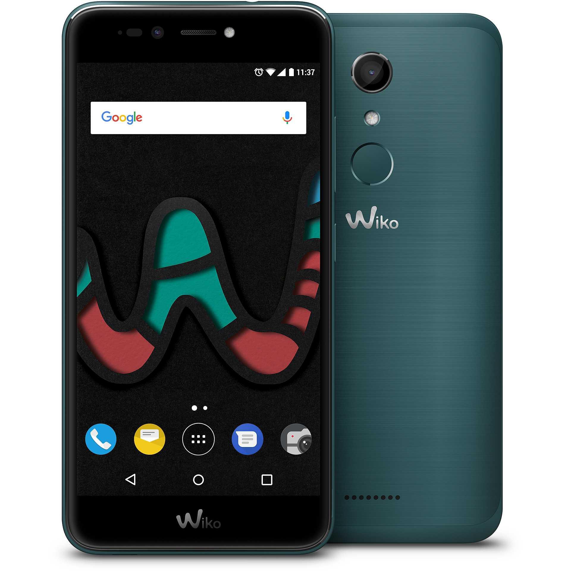 wiko upulse lite colore nero turchese smartphone dual sim cellulari e smartphone smartphone. Black Bedroom Furniture Sets. Home Design Ideas