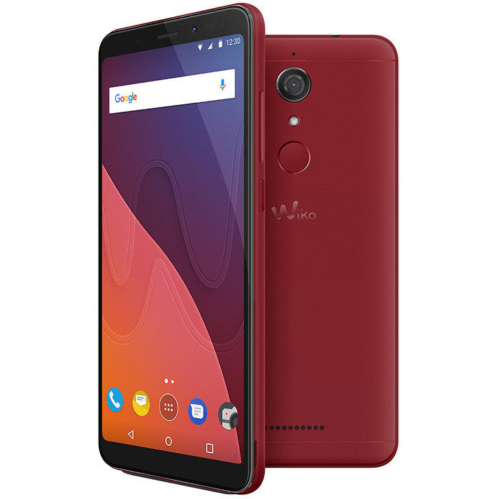 "Wiko View TIM Smartphone 5,7""18:9 HD+ memoria 16 GB Fotocamera 13 MP Android 8.1 Oreo colore Cherry Red 774264"