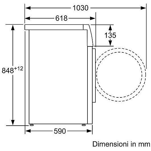 wm-14t447it siemens lavatrice carica frontale classe a+++-30% 7kg 1400 giri/min