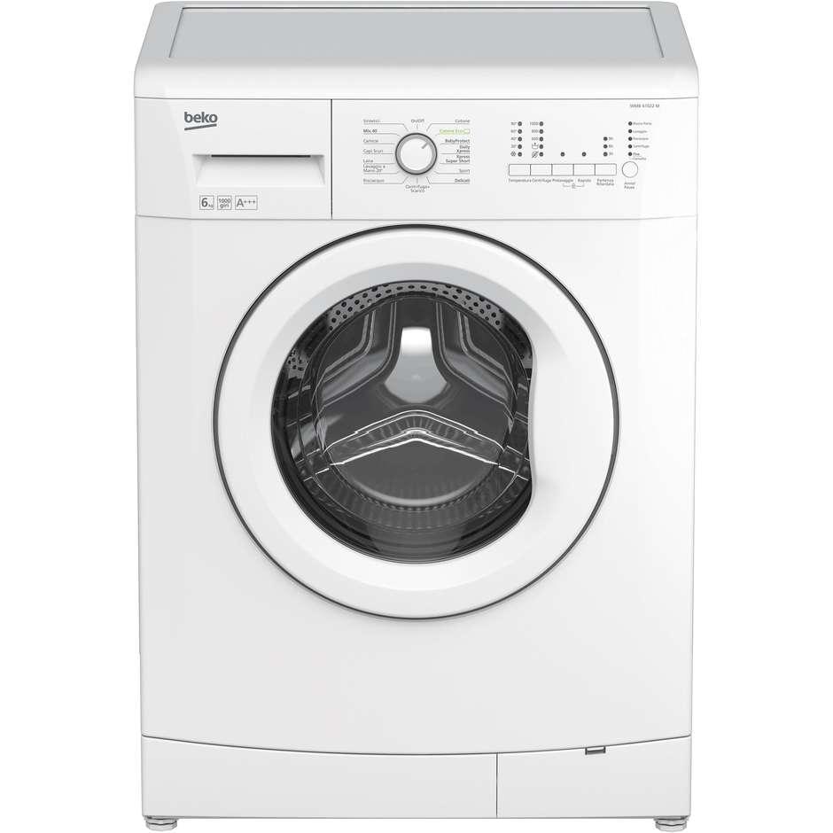 wmb-61023m lavatrice beko carica frontale classe a+++ 6 kg 1000 giri