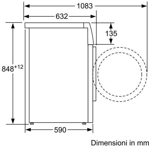 wmh-4w649it siemens lavatrice carica frontale classe a+++-30% 9 kg 1400 giri