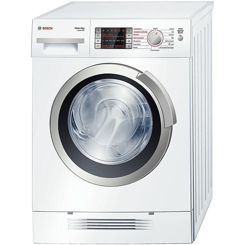 Attractive Wvh 28421it Bosch Lavasciuga Asciugatura Con Condensazione Ad Aria 7kg / 4kg