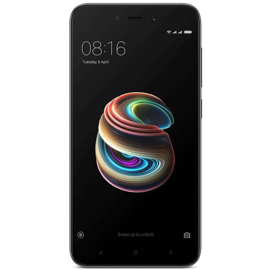 "Xiaomi Redmi 5A Vodafone Smartphone Dual Sim Display 5"" HD memoria 16 GB Fotocamera 13 MP Android colore Grigio"