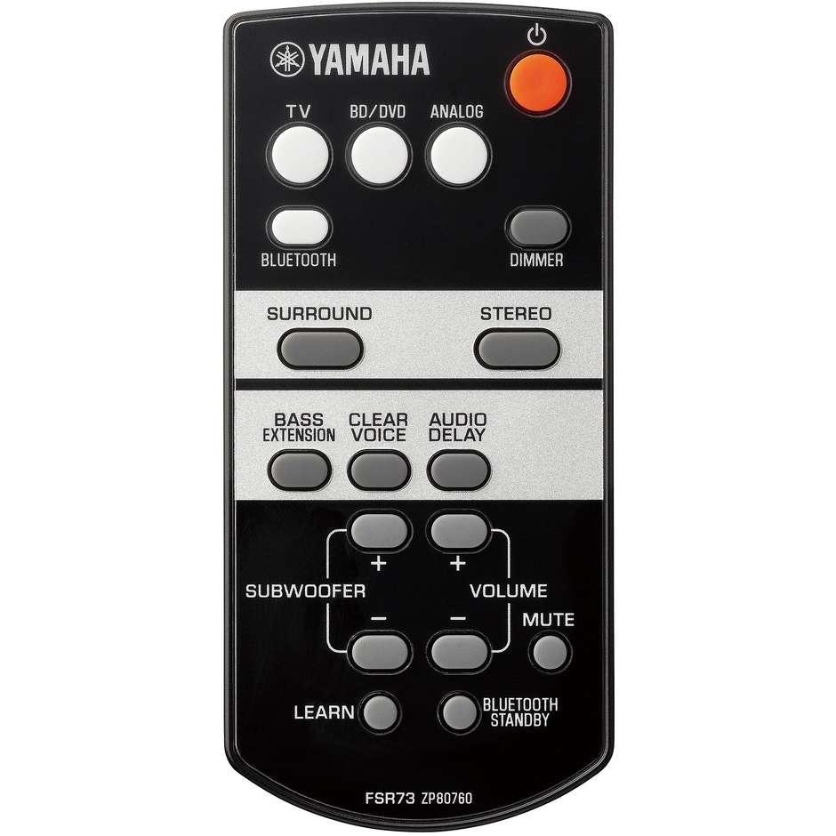 Yamaha YAS-105 Soundbar Bluetooth potenza 120 Watt colore nero